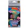 Kredki ołówkowe okrągłe, 10 kolorów - metaliczne (34678PTR)